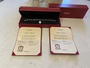 Cartier 18k Weißgold & Diamant Kleeblatt Charm sehr seltene Cartier Stück Brandneu