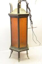 Antique Vintage Large Brass Gothic Church Pendant Light Lamp Fixture Chandelier