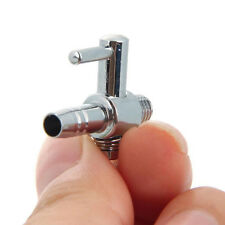 Stainless Steel 2PCs Thread Aquarium Air Flow Distributor Lever Control Valve