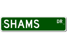 SHAMS Street Sign - Personalized Last Name Signs