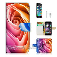 ( For iPhone 6 / 6S ) Wallet Case Cover! Beautiful Rose Flower P0264