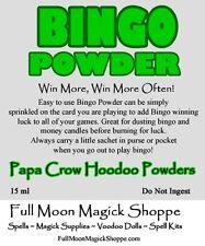 Bingo Powder Hoodoo Ritual Dust Win Game Play Success Bring Luck Money Winner