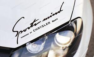 Chrysler Sports Mind Sticker for Bonnet Crossfire 300C Voyager Neon Nitro