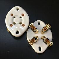 10PCS 4Pin Ceramic Vacuum Tube Sockets Gold Plated for 300B 300B-T 572B 811A U4A