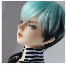 Bjd Doll Wig 1/4 7-8 SD MSD MDD AOD DZ LUTS DOD Dollfie blue short Head Hair