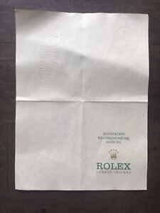 Garanzia Rolex Certificato Cronometria (in bianco)-Anni '70- Rarissima!!