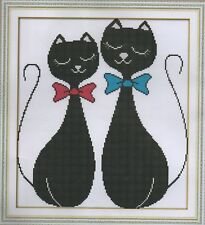 Counted Cross Stitch Kit, Black Cat Lovers
