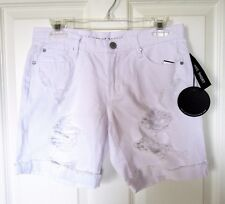 Articles of Society White Distressed 100% Cotton Cuffed Denim Shorts 26 NWT
