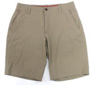 mens khaki UNDER ARMOUR match play golf shorts 1272862 woven loose 36 x 11