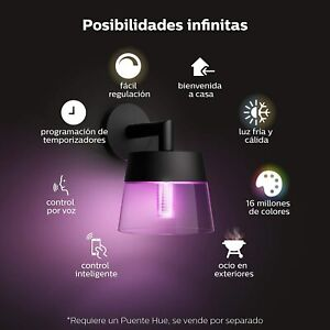 Philips Hue Attract Aplique Inteligente Exterior LED IP44 8W Luz Blanca Colores