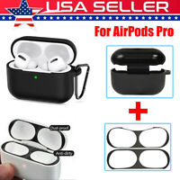 For Apple AirPods Pro Charging Box Case + Dust Proof Film Protective Cover Set