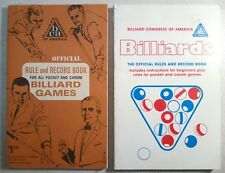 Lot Of 2 Billiard Congress Of America Official Rule And Record Books (1967/1986)