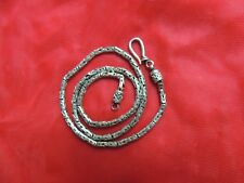 Ethnic India 925 Silver Asian Tribal Celtic Chain Long Byzantine Necklace Choker
