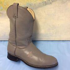 Acme Grey Roper Cowboy Boots women's 8M  western Style