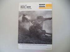 - CATALOGO DEPLIANT BROCHURE ATLAS COPCO PERFORATRICE ROC 600 - ANNO 1969