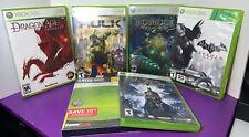 Lot of 6 Xbox 360 Games Batman Arkham Bioshock 2 Hulk DragonAge Origins Burnout
