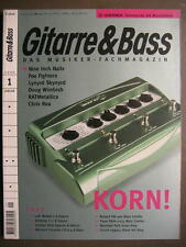GITARRE & BASS 2000 # 1 - KORN NINE INCH NAILS LYNYRD SKYNYRD METALLICA RATM
