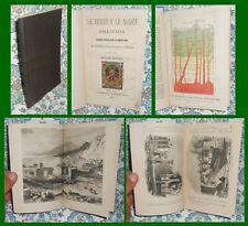 VULCANI GEOLOGIA - TRATTATO DELLA TERRA E ACQUE D'ITALIA - MILANO 1865