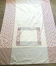 Laura Ashley Patchwork Twin Duvet Cover Set Floral White Pink Purple Pillowcase