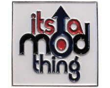 Its A Mod Thing Target Arrow MODS Scoterist Metal Enamel Badge Scooter Rider