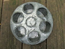 Vtg 2pc Galvanized Metal Chicken Chick Poultry Feeder 6 Flying Saucer Shape A30