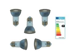 5x E27 LED Energiespar Leuchtmittel Reflektor Alu-Spot 3200k 3 Watt 270 Lumen