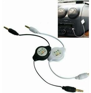 3.5mm Stereo Retractable Jack to Jack Car Audio Aux Cable For iPhone 5/6/6s iPod