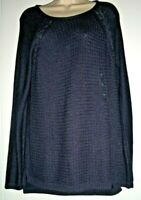 NWT SONOMA Women's Size L Wine Color Long Sleeve Knit Sweater