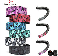 Gradient Handlebar Tape Bicycle Road Bike Cork Grip Wrap Ribbon Tape & Bar Plug