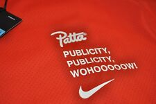 PATTA x Nike Tshirt Dri-fit Orange Size Wxtra Large/XL Nikelab Tee Publicity Air