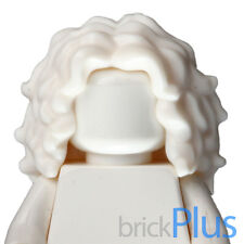 Lego White Minifig, Hair Female Long Tousled with Center Part 6138211 20595