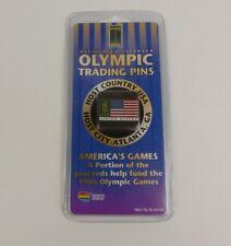 NEW Olympic Trading Pin Atlanta 1996 Collectible Centennial Pin American Flag
