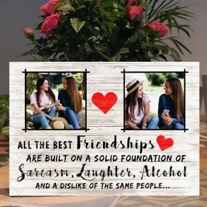 Personalised Sarcasm, Best Friend Gift, Friendship, Bestie gift idea Plaque Sign
