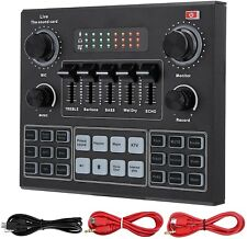 V9 Bluetooth Sound Card Stereo Audio Mixer with Effects and Voice Change