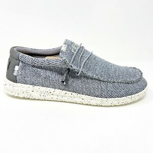 Hey Dude Wally Free Light Grey Mens Casual Lightweight Shoes 150203046