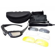 Military Tactical Goggles Sunglasses Polarized Lenses Glasses 4 Lens Kit Grand