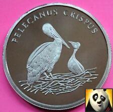 1986 Rare Dalmatian Pelican Crispus Preserve Planet WWF For Nature Coin Medal