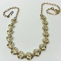 VINTAGE NECKLACE RETRO CHOKER GOLD TONE SHORT CHAIN DAINTY COSTUME JEWELRY 15""