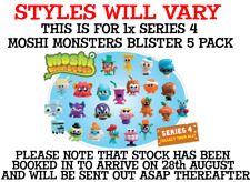 New Moshi Monsters SERIES 4 Moshlings 5 Figure Pack + CODE BNIP 78107