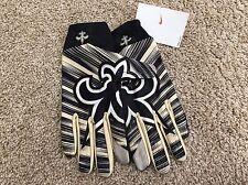 Nike NFL Stadium Fan Gloves New Orleans Saints Size Large