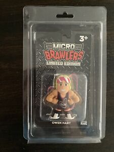 BRAND NEW Owen Hart Micro Brawler #159/250 With Protective Case WWE WWF BRAWLERS