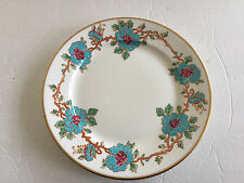 "Old Royal Bone China England Blue Floral Vine Embossed - 8"" SALAD PLATE"