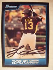 YUNG-CHI CHEN signed MARINERS 2006 Bowman Draft baseball card AUTO TAIWAN #FG30