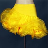 Salsa Latin Cha cha Ballroom Rumba Dancing Competition Dance Skirt Short Skirts