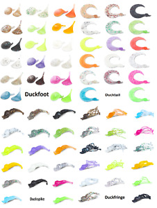 Duckfoot-tail-fringe-spike 17 Farben Forellenköder by Andy Weyel Trout Bait