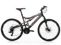 "VTT 26"" Mountainbike ALUMINIUM SHIMANO 24V, 2xDISQUE, FULL SUSPENSION"