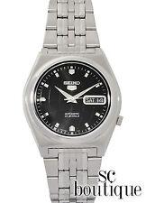 SEIKO 5 SNK669 Sport Automatic Analog Day-Date Black World Globe Dial Watch