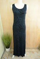 COLDWATER CREEK - Navy & Black sleeveless sheath long dress, S