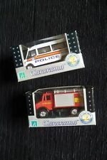 Boys toys 3 years+ NEW! x2 boxed Cararama quality fire engine/police van C SHOP!