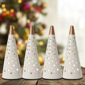 4 x Yankee Magical Christmas Tree Tea Light Luminary Candle Holders